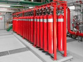 система автоматического газового пожаротушения
